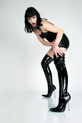 Patent OverKnee High Heels Boots Clubwear Fetish Dominatrix 4 Colors