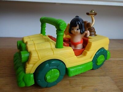 Little People Jungle Book Musical Jeep Car with Mowgli Figure