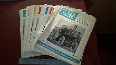lot of 37 Steam Engines Magazine 1957 58 59 60 61 For men who play with steam