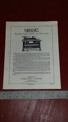 Stark Precision Lathes and Fine Tools BULLETIN A and H Flyer Sales COOL
