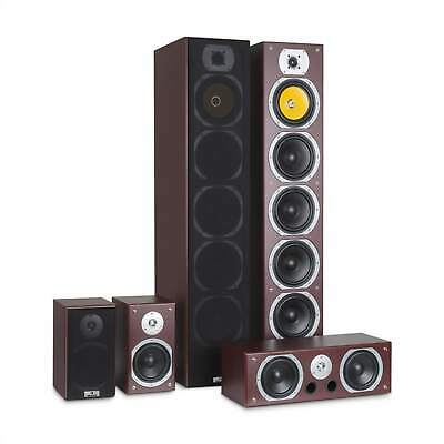 Heimkino System Surround Lautsprecher Hifi Home Cinema Boxen Bass Subwoofer Holz