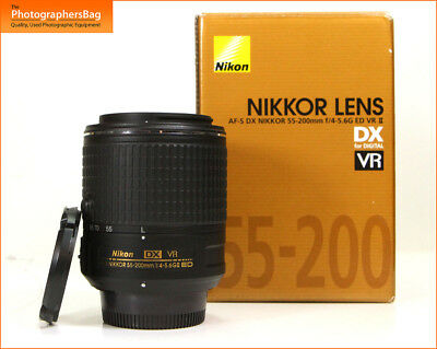 Nikon AF-S DX NIKKOR 55-200mm f4-5.6G ED VR II Latest Version Lens Free UK Post