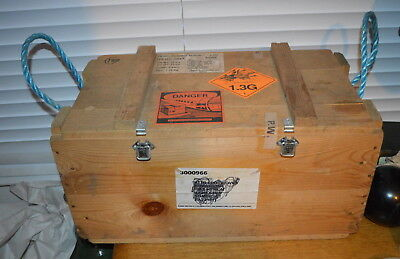 Vintage Wooden Explosives Crate With Labels