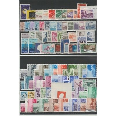 Turkey 1959 Year Complete 98 Values + 1 Bf New Mnh Mf 52382