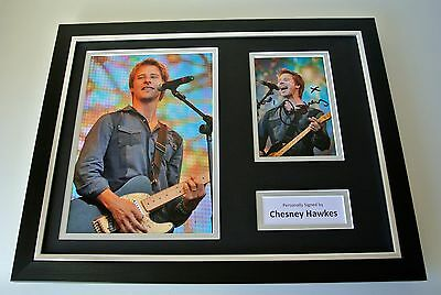 Chesney Hawkes SIGNED FRAMED Photo mount Autograph 16x12 display 80's Music COA