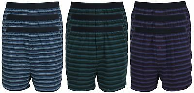 Ex Store Mens Pack of 3 Cotton Jersey Button Front Boxers