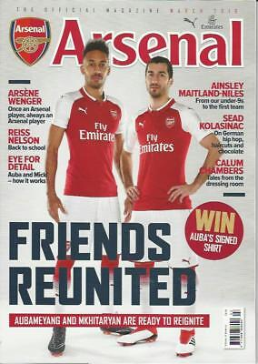 ARSENAL OFFICIAL MAG- MARCH 2018 (NEW)*Post included to UK/Europe/USA/Canada