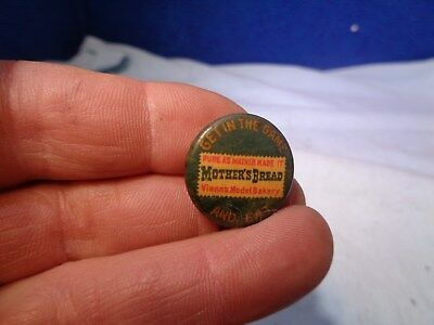 Vintage Advertising Celluloid Pinback **Mother's Bread**
