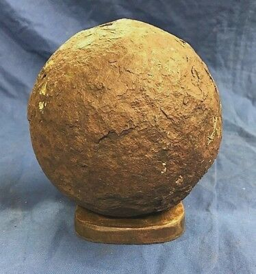 MORTAR / CANNON,BALL ENGLISH CIVIL WAR 15lb WEIGHT, 17.5.INCHES.LARGE ORIGINAL.