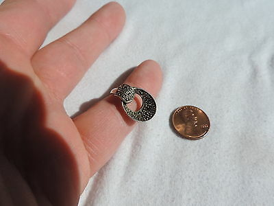 Vintage Jewelry Marcasite Sterling Silver Art Deco Style Ring sz 8 (pp942)