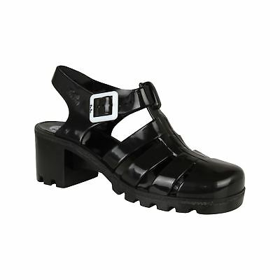 JuJu Jellies Womens Babe Sandals Shoes Rounded Toe Buckle Fastening