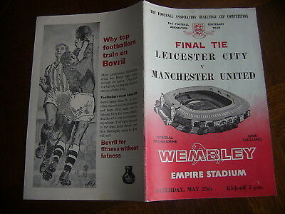 LEICESTER CITY v MANCHESTER UNITED  -   25/05/1963  (FA CUP FINAL )