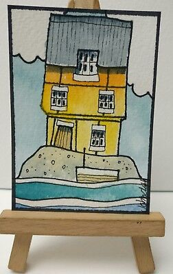 Original Watercolour Painting ACEO - We Wanted Somewhere Secluded