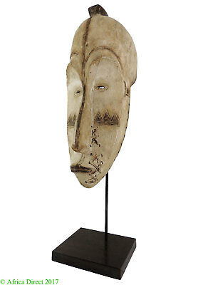Fang Mask Ngil Society Gabon African Art Custom Stand SALE WAS $8500