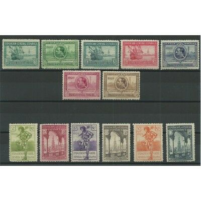 1929 Spain Spain Esposizione Of Seville And Barcelona 13 Values Mnh Mf23580