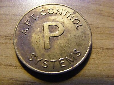 An APT Control Systems P Token -  Nice condition -  25mm Dia