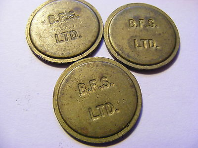 A Collection of 3 x B.F.S Ltd (Bell Fruit Suppliers) Tokens - 22mm Dia