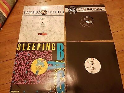 "hip hop 12""s x4 t la rock krs1 world class wreckin cru dr dre common q-tip rap"