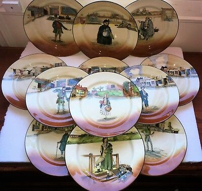 Royal Doulton Seriesware Dickensware Plates Set Of 12 Little Nell, Poor Jo, Etc