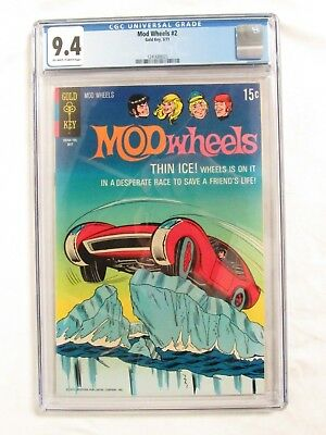Mod Wheels #2 (1971) CGC 9.4 Gold Key Comics Hot Rod CV331