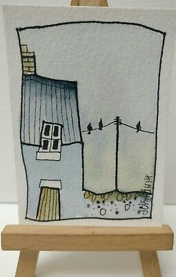 Original Watercolour Painting ACEO - When Will They Put The Bread Out ?