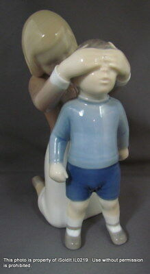 BING & GRONDAHL FIGURINE - #2301 GUESS WHO?  Mother & Son B&G