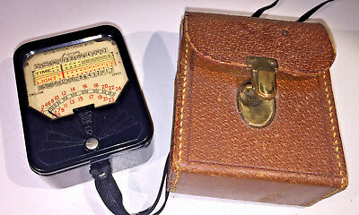 A vintage US-made Weston 850-series Selenium Lightmeter from 1930s, with case
