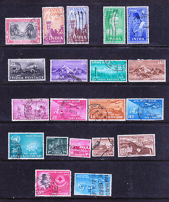 India postage stamps -1950s 20 x Used - Collection odds