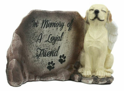 """""""In Memory Of A Loyal Friend"""" Labrador Retriever Dog With Angel Wings Statue"""