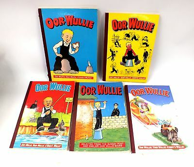 Vintage Collection 5x OOR WULLIE Illustrated Children's Comic Annuals - F10