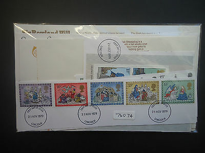 Great Britain 1979 Year Set On Piece (Ex First Day Covers) (With Inserts) USED