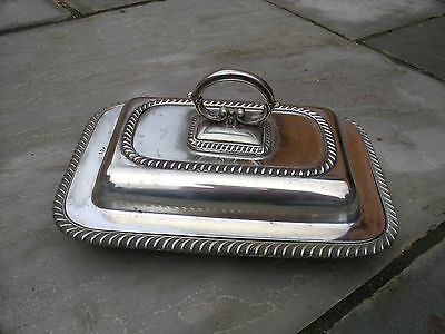 Silver Plated Entree Dish with Warming Plate by Stewart Dawson & Co 1907+