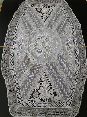 Antique Lace- Fine French Normandy Table Runner W/hand Made Laces
