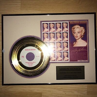 marilyn munroe gold disc picture