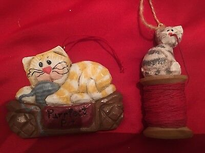 Eddie Walker Midwest Cannon Falls Kitty Cat Christmas Ornaments - set of 2