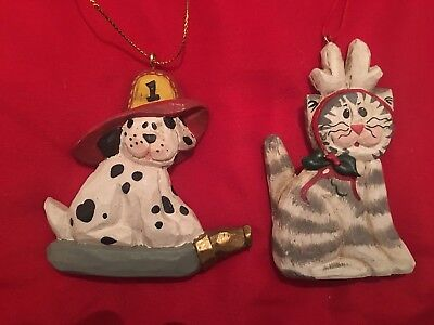 Eddie Walker Midwest Cannon Falls Cat and Dog Christmas Ornaments - set of 2