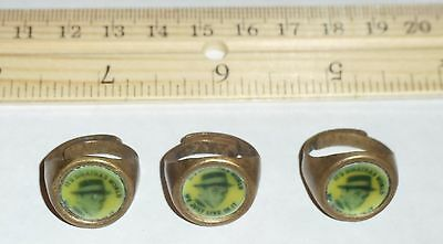 Vintage Frank Sinatra Adjustable Ring Lot of 3 Gumball Toy / Advertising 1960's