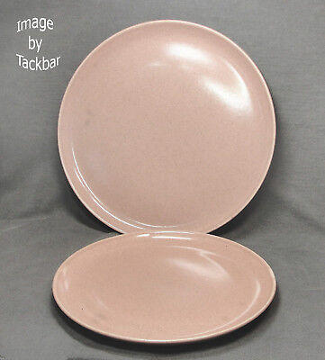 Vintage Russell Wright Designer 10 & 8 in.Coral Pink Dinner Plates