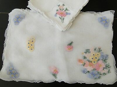Antique Linens-Unused Madeira Placemats,napkins With  Ben M.jabara Label