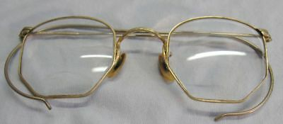 Pair Of Antique Wire Frame Eye Glasses 12 K Gold Filled