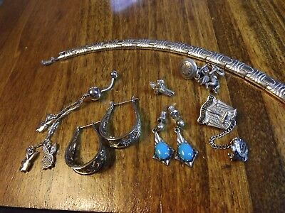 Lot Wearable Sterling Silver Jewelry over 50 grams