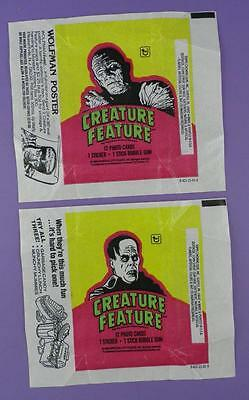 Topps Creature Feature Horror Gum Wrappers 1980 - Mummy & Phantom of The Opera