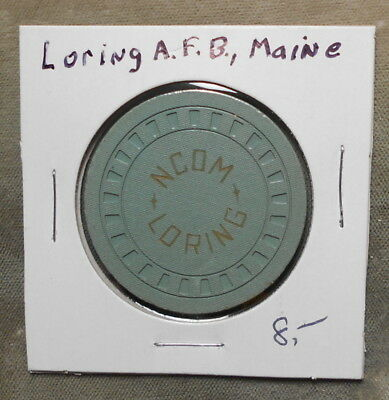 Military: Loring AFB CA NCOM $1.00 Cunningham ME110a Poker Chip Style