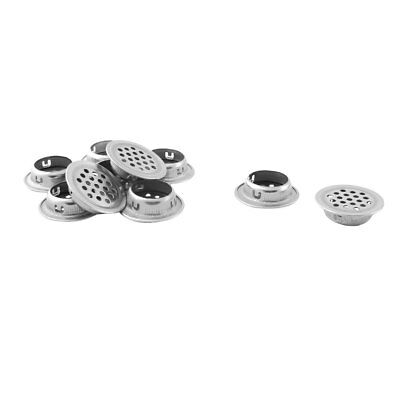 Home Kitchen Metal Round Mesh Hole Shoes Cabinet Air Vent Louver Cover 10pcs