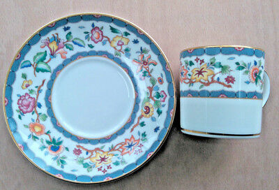 WEDGWOOD Huntingdon cup and saucer bone china 1992 cup measures 6.75cm tall
