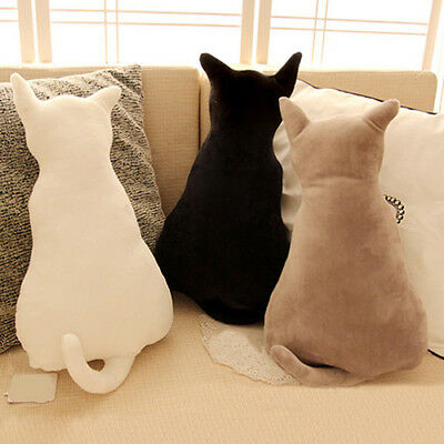 Cartoon Cat Soft Plush Back Shadow Sofa Pillow Seat Cushion Birthday Gift Eyeful