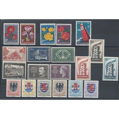 1956 Luxembourg Year Complete 20 Values Intact Mnh Mf2506