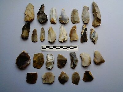 Large group of Flint tools from Dorset -Nice -Look!