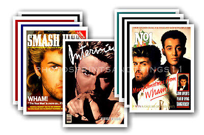 GEORGE MICHAEL  - retro covers - collectable postcard set # 1
