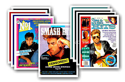 GEORGE MICHAEL  - retro covers - collectable postcard set # 2